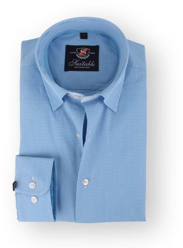 Aqua Shirt Checkered 108-7