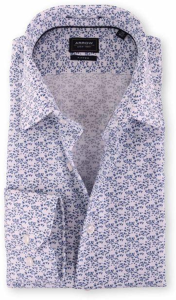 Arrow Blumen Hemd Blau