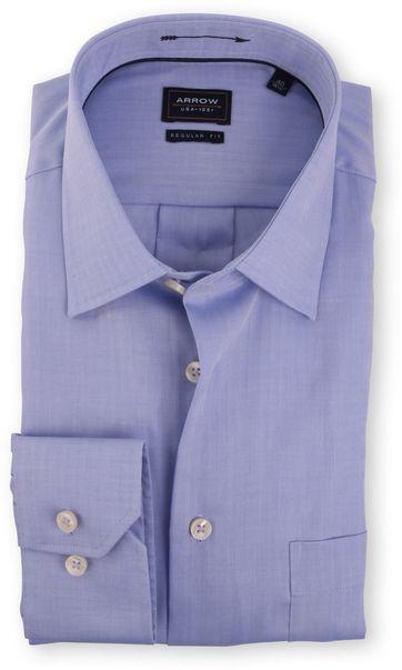 Arrow Hemd Regular Fit Blau Fischgrätmuster