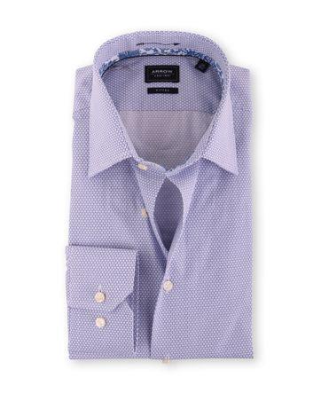 Arrow Overhemd Blauw Print