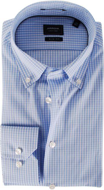 Arrow Overhemd Lichtblauw Ruit