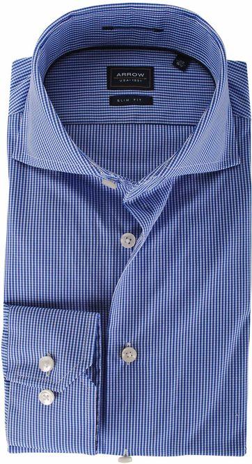 Arrow Overhemd Ruit Royal Blauw