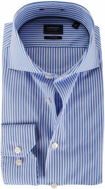 Arrow Overhemd Streep Blauw