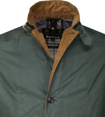 Barbour Ashby Wax Jas Groen