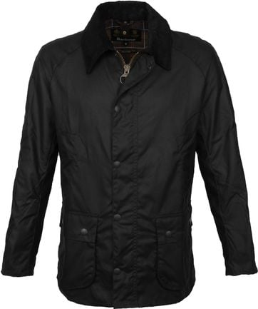 Barbour Ashby Wax Jas Zwart