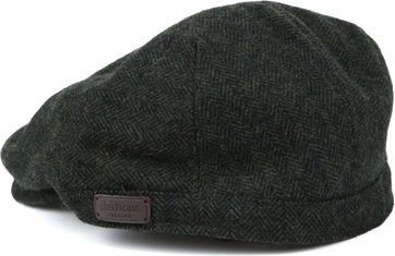 Barbour Barlow Flat Cap Herringbone Dark Green