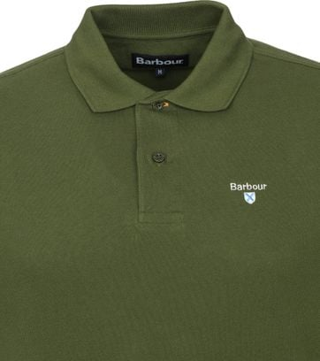 Barbour Basic Pique Polo Army Groen