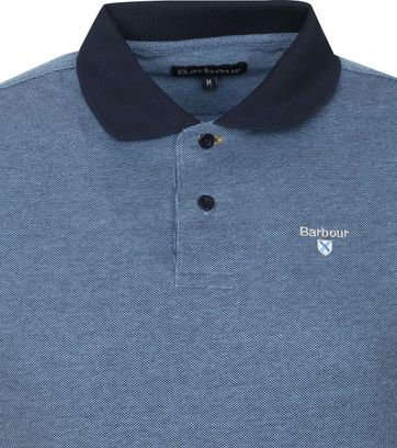 Barbour Basic Pique Polo Donkerblauw