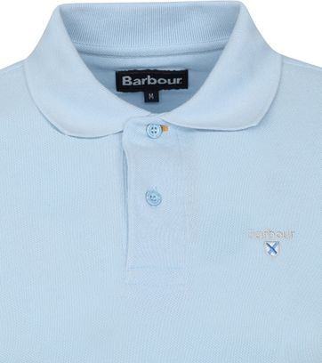 Barbour Basic Pique Polo Lichtblauw