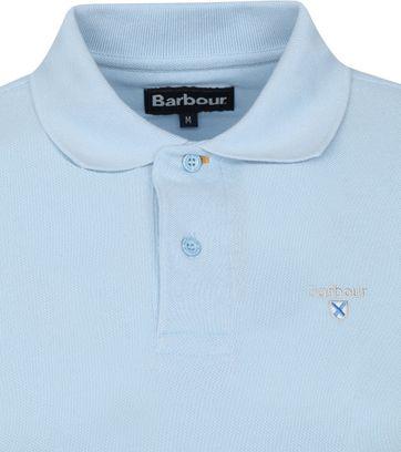 Barbour Basic Pique Polo Lichtblauw