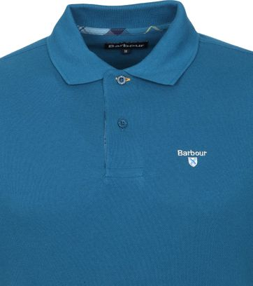 Barbour Basic Pique Polo Lyon Blauw