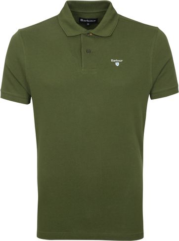 Barbour Basic Pique Polo Shirt Army Green