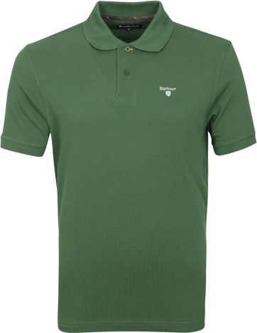 Barbour Basic Pique Polo Shirt Dark Green