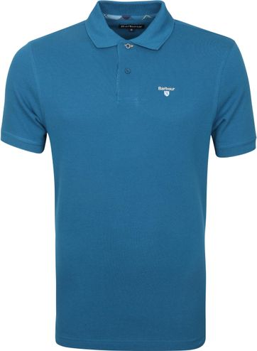 Barbour Basic Pique Polo Shirt Lyon Blue