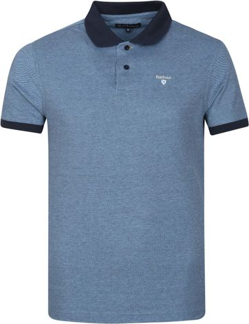 Barbour Basic Pique Polo Shirt Navy