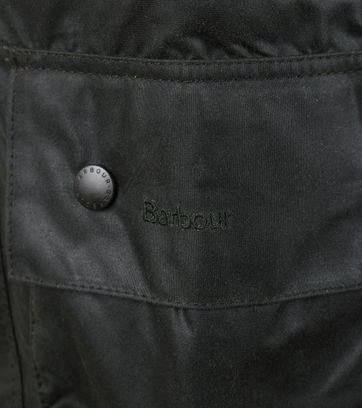 Detail Barbour Beaufort Wax Jas Groen