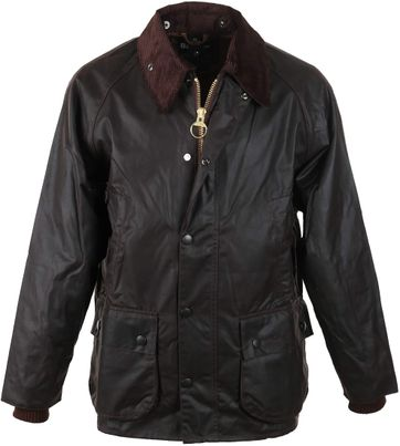 Detail Barbour Bedale Wax Jas Bruin