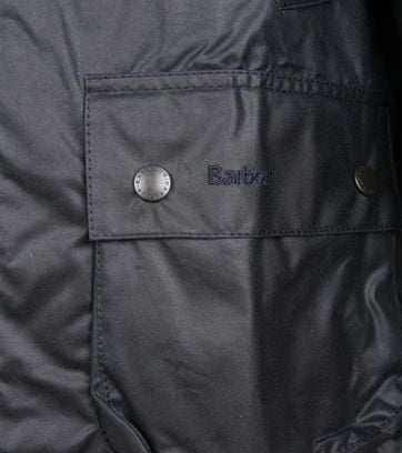 Barbour Bedale Wax Jas Donkerblauw