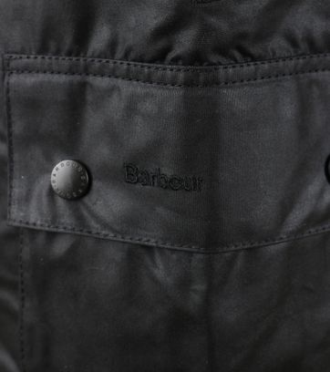 Detail Barbour Bedale Wax Jas Zwart