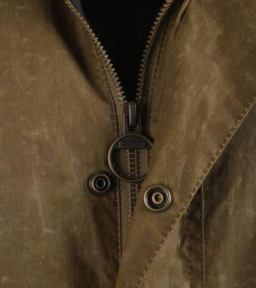 Detail Barbour Binaccle Zomerjas Bruin