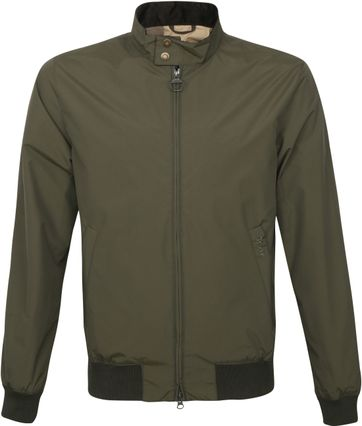 Barbour Bomber Jacket Royston Olive Green