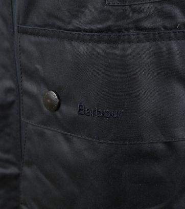 Barbour Border Wachsjacke Blau