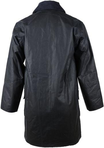 Barbour Border Wax Jacket Blue