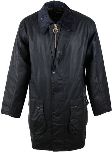 Barbour Border Wax Jas Blauw