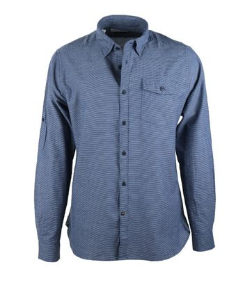 Barbour Brock Shirt Donkerblauw Streep