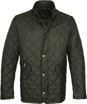 Barbour Chelsea Jacket Army Quilted