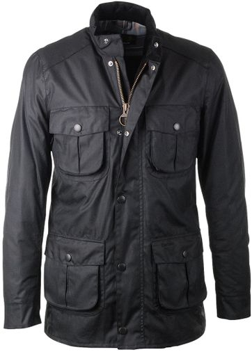 Barbour Corbridge Wachsjacke Schwarz