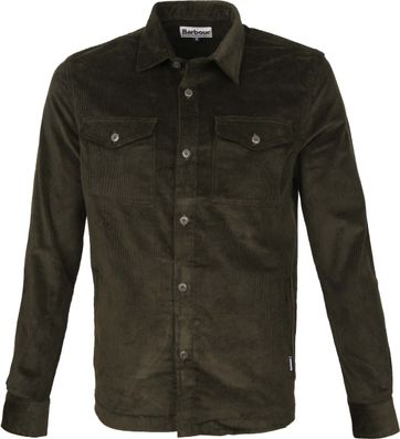 Barbour Corduroy Overshirt Olive
