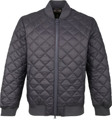 Barbour Gabbol Quilt Bomber Dark Grey