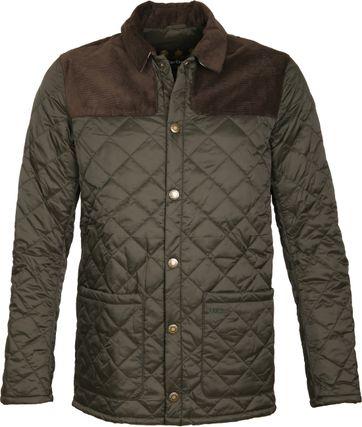 Barbour Gillock Quilt Jacket Green