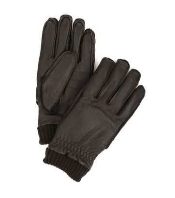 Barbour Gloves Dark Brown