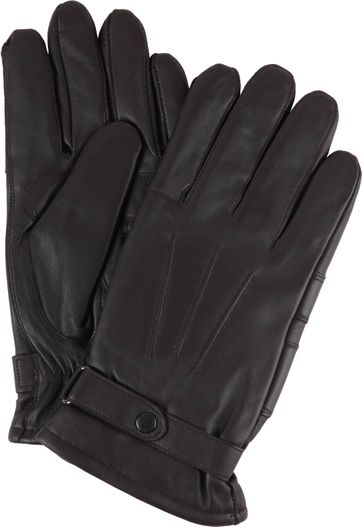 Barbour Gloves Smooth Leather Brown