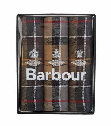 Barbour Handkerchief Taschentücher 3er Set Tartan