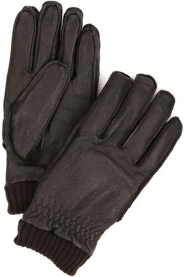 Barbour Handschuhe Dunkelbraun