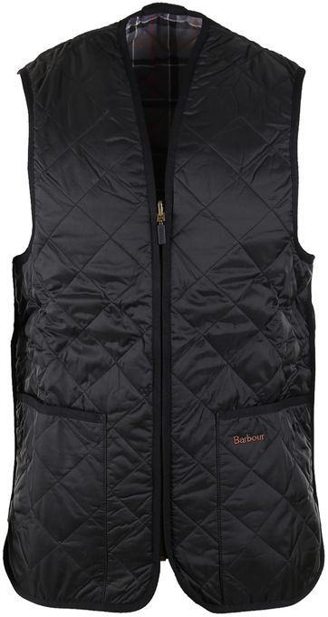 Barbour Innenfutter Quilted Zip-in Schwarz