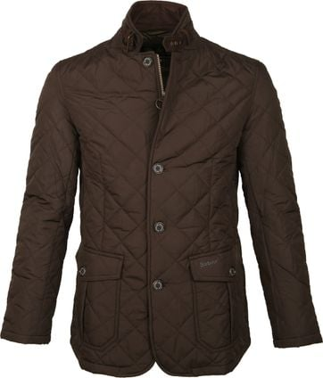 Barbour Jacket Quilted Lutz Brown