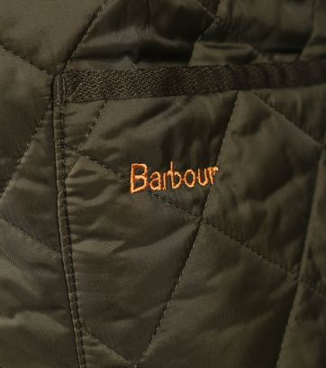 Detail Barbour Liddesdale Quilt Groen