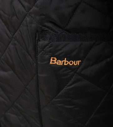Detail Barbour Liddesdale Quilt Zwart