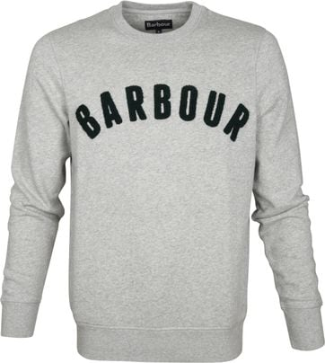 Barbour Logo Sweater Grau