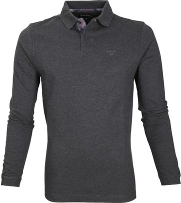Barbour Longsleeve Polo Antraciet