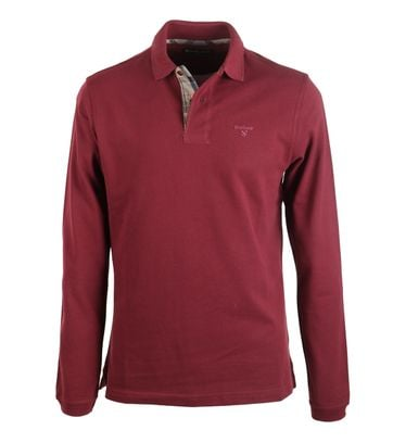 Barbour Longsleeve Polo Bordeaux