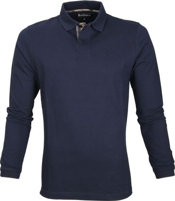 Barbour Longsleeve Polo Navy