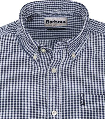 Barbour Overhemd SS Ruit Blauw