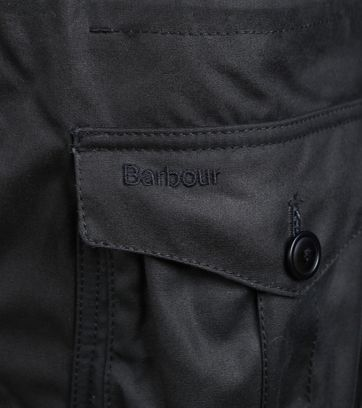 Detail Barbour Parka Wax Oakum