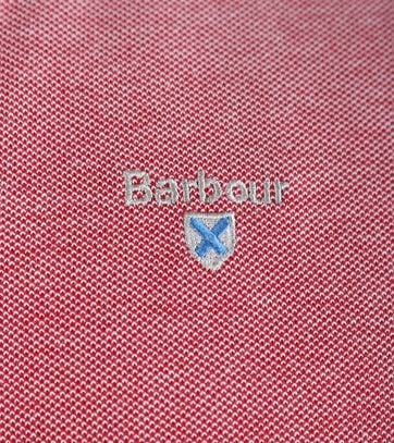 Detail Barbour Polo Rood Mix