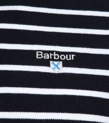Barbour Polo Strepen Donkerblauw